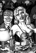 Clipart Critters 395-Film Noir Nightclub