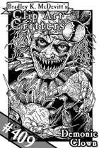 Clipart Critters 409 - Demonic Clown