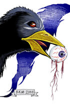 Clipart Critters 425 - Crow And Eyeball