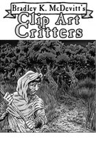 Clipart Critters 432 - Frightened Peasant
