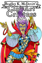 Clipart Critters 456-Female Comic Wizard