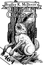 Clipart Critters 464 - Ghostly Rabbit