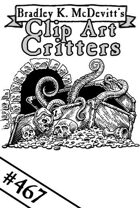 Clipart Critters 467 - Tentacles And Treasure