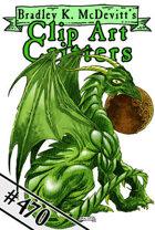 Clipart Critters 470 - Emerald Dragon