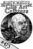 Clipart Critters 475  -Punk Vampire