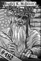 Clipart Critters 482 - Wizard At Work