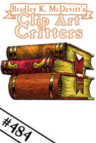 Clipart Critters 484 - Old Books