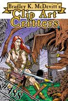 Clipart Critters 488 - Graveyard Monster Battle