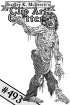 Clipart Critters 493 - Gruesome Zombie