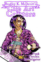 Clipart Critters 498 - Punk Psychic Investigator