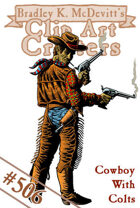Clipart Critters 506 - Cowboy With Colts