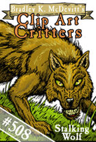 Clipart Critters 508 - Stalking Wolf
