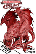 Clipart Critters 509 - Red Dragon