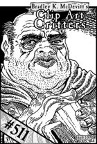 Clipart Critters 511 - Headshot Bartender