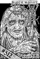Clipart Critters 512- Headshot Kindly Old Farmer