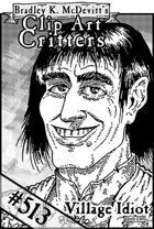 Clipart Critters 513 - Headshot Village Idiot