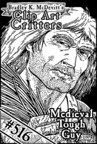 Clipart Critters 516 - Medieval Tough Guy 1