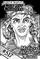 Clipart Critters 517- Medieval Headshot Woman