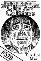 Clipart Critters 520 - Terrfified Man