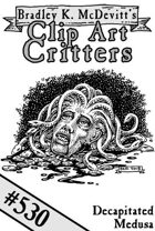 Clipart Critters 530 - Decapitated Medusa