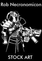 Stock Art - Rob Necronomicon - Cyborg Shock Trooper
