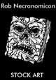 Stock Art - Rob Necronomicon - Evil Spellbook of Dark Magic