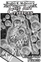 Clipart Critters 541 - Wizard And Planets