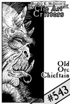 Clipart Critters 543-Old Orc Chieftain
