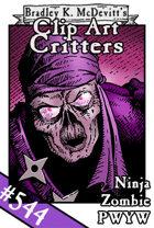 Clipart Critters 544-Ninja Zombie