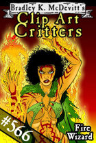 Clipart Critters 566- Fire Wizard