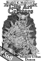 Clipart Critters 568- Modern Urban Demon