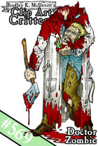 Clipart Critters 569-Doctor Zombie