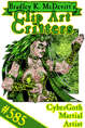 Clipart Critters 585 - Cybergoth Martial Artist