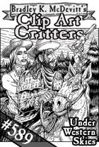 Clipart Critters 589 - Under Western Skies