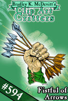 Clipart Critters 594 - Fistful Of Arrows