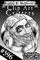 Clipart Critters 596 - Debbi The Diabolical