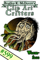 Clipart Critters 599 - Wormface