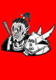 Stock Art - Rob Necronomicon - A Spiky Orc Warrior - or a cannibal or something