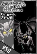 Clipart Critters 80 - Gargoyle Attacks