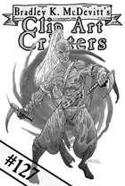 Clipart Critters 127 - Dark Elf Monk