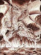 Clipart Critters 132 - Lava Dragon