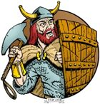 Clipart Critters 133 - Viking at Bay