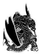 Tobyart 020 - Lizard Axeman