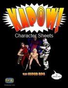 Kapow! Character Sheets
