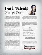 Dark Talents: Dhampir Feats for Shadows over Vathak