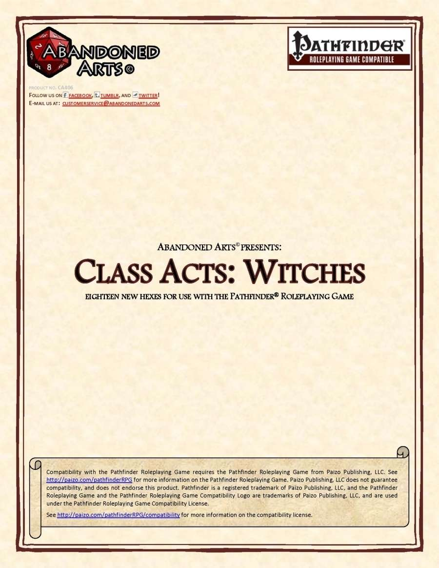 Class Acts: Witches