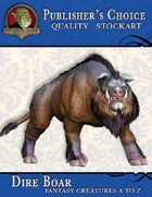 Publisher's Choice - Creatures A to Z: Dire Boar