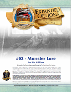 (5E) Expanded Options #02 - Monster Lore Skill for 5th Edition Fantasy