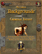 5th Edition Backgrounds - Criminal Intent - BA002