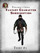 Publisher's Choice - Fantasy Characters: Thief #1
